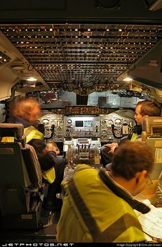 Boeing 747 Air Bridge Cargo. Ground engineers preparing for engine run. by dirkjankraan.com, via Flickr