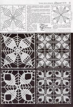 Irish lace, crochet, crochet patterns, clothing and decorations for the house, crocheted. Russian Crochet, Crochet Art, Thread Crochet, Irish Crochet, Crochet Doilies, Crochet Stitches, Crochet Motif Patterns, Crochet Diagram, Crochet Squares