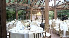 Reception in the Glass House. September 13, 2015 #wedding #kortrightcentre