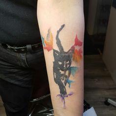#cat #watercolour #rafalaskitattoo #tattoo #tattoos #warsawtattoo