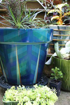 Painted Planter DIY | The Happy Heathen