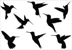 hummingbird clip art | Hummingbird silhouette clip art Pack | Tattoo Love
