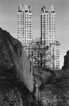 """Ansel Adams, """"Central Park and Skyscrapers, New York City"""" (c. 1945). #Landscape #Photography"""