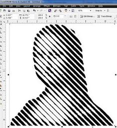 Slice Up Your Face (Again) : 10 Steps - Instructables Draw Tutorial, Photoshop Tutorial, Xy Plotter, Complicated Image, Photoshop Face, 3d Cnc, Dark Images, Illusion Art, Op Art