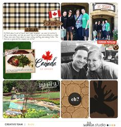 Disney Epcot Canada Lecellier Digital Scrapbook Layout page using Project Mouse (World): Canada by Britt-ish Design and Sahlin Studio