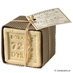 French Savon De Marseille made from pure olive oil. Divine! (found on hardtofind.com.au)