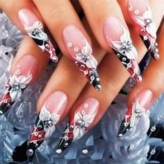 😲Envious of others' long nail art? 🤩Use this and get your long nail art in minutes! 😲Envious of others' long nail art? 🤩Use this and get your long nail art in minutes! Nail Art Designs Videos, Nail Art Videos, Nail Designs, Polygel Nails, Diy Nails, Hair And Nails, Summer Acrylic Nails, Best Acrylic Nails, Long Nail Art
