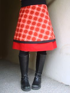 Opal A-line skirt. Love the double layers and that top fabric's pretty awesome, too.