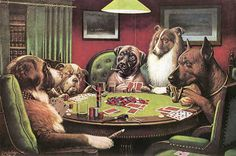 One of these poker dogs posters was somewhere on a wall in Ouma's house...