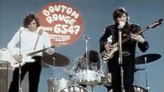 French tv ORTF tv studios, Paris, for tv programme Bouton Rouge, 24 Feb 1968