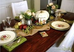 rustic thanksgiving table decor | Make Table Decorations for a Rustic Romantic Thanksgiving | HomeJelly
