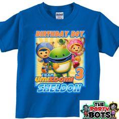 Custom Team Umizoomi Birthday Party Shirt new