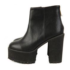 Back-Zip Platform Ankle Booties