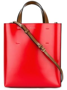 MARNI small Museo tote. #marni #bags #shoulder bags #hand bags #canvas #leather #tote #