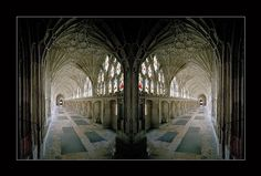 Gloucester Cathedral, England - spent several days here w/ Dan's college friend Jon Sell, a British pastor - July 1998 Modern Gothic, Dark Gothic, Gothic Architecture, Amazing Architecture, Architectural Painting, Gloucester Cathedral, Medieval Gothic, Gothic Cathedral, Place Of Worship