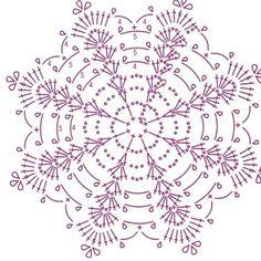 Crochet Snowflake Pattern, Crochet Pillow Pattern, Crochet Stars, Crochet Snowflakes, Crochet Flower Patterns, Crochet Diagram, Thread Crochet, Crochet Motif, Crochet Designs