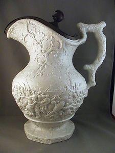 "Large Charles Meigh stone ware jug, ""Julius Caesar"" 1839"