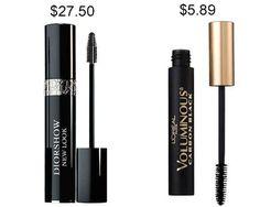 Try L'Oréal Paris Voluminous Carbon Black mascara instead of Diorshow and save about $21.
