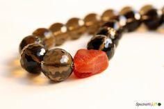 Chunky necklace  Smoky Grey Necklace  Glass by Spectrakraft