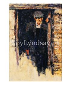 Johnny at the Door. Drawing of old man, Ireland.