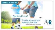Did you know a hearing aid can help your athlete get in the game? Hearing Aids, Did You Know, Improve Yourself, Athlete, Game, Gaming, Toy, Games