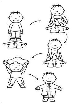 Enfiler une veste Pediatric Physical Therapy, Occupational Therapy, Stories For Kids, Kindergarten, Classroom Organization, Motor Skills, Pre School, Montessori, Pediatrics