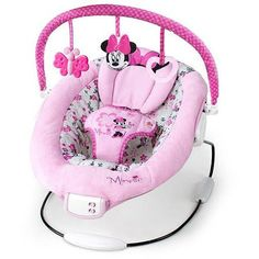 Disney Baby Minnie Mouse Garden Delights Bouncer Only 10 In Stock Order Today! Product Description: The Minnie Mouse Garden Delights Bouncer from Disney Baby is EAR-resistible! Along with a Minnie-ins