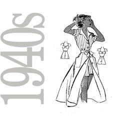 40s+Pinup+Vintage+Pattern++Marian+Martin+9366+by+ZipZapKap+on+Etsy,+$20.00
