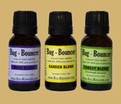 Bug-Bouncer products are available in three formulas: Park (geranium/lavender), Garden (citronella) and Forest (extra-strength).