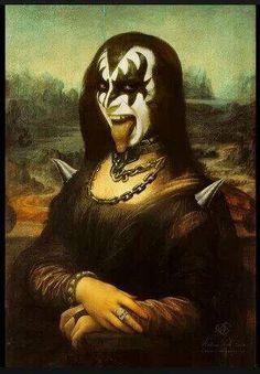 10 Ridiculous Times Mona Lisa Gone Wild Kiss Rock, Art Ninja, La Madone, Rock Band Posters, Mona Lisa Parody, Band Wallpapers, Kiss Band, Hard Rock, Art History