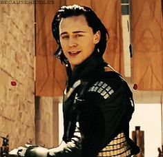 Don't know what is the hardest to deal with: lovely Loki or angry Loki. Geez. (gif) Disney prince! <3