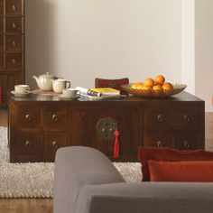 Low Chinese Apothecary Cabinet, Oriental Coffee Table, Shimu £995