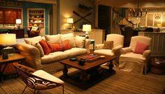 """Grace and Frankie"" beach house living room set still"