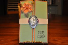 This is a card that I made for my Granddaughter's wedding.