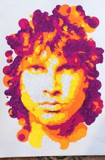 Querkles Icons: Jim Morrison by Thomas Pavitte. Read my review here - http://colouringreviews.blogspot.co.nz/2016/03/have-you-tried-querkling-yet.html