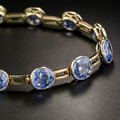 We curate the finest vintage & antique jewelry in our San Francisco and online jewelry stores. Sapphire Bracelet, Aquamarine Jewelry, Gemstone Jewelry, Jewelry Box, Jewelry Bracelets, Jewelry Accessories, Fine Jewelry, The Sapphires, Ancient Jewelry