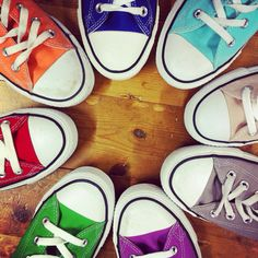 Converse sneakers. Rainbow and colour heaven :)