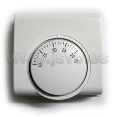 Termostato de temperatura ambiente con interruptor Electro DH 11.801 apto para calefacción y aire acondicionado. www.jsvo.es