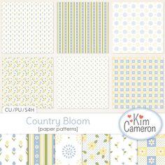 Digital Art :: Paper Making Tools :: Country Bloom Patterns CU
