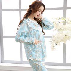 Fashion Women's Pajamas Long-Sleeve Pajama Pants Sets Floral Printed Sleepwear Spring Pure 100% Cotton Pyjama Lounge Set. Yesterday's price: US $24.35 (20.27 EUR). Today's price: US $24.35 (20.14 EUR). Discount: 13%.