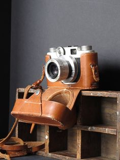 Vintage Argus in a leather case / camera decor / by justynamrugala, $25.00