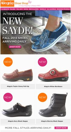 Introducing the Alegria Sayde! | Alegria Shoe Shop