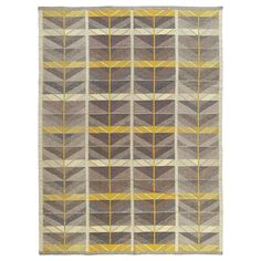 Swedish Flat-Weave Rug by Ingrid Dessau | From a unique collection of antique and modern russian and scandinavian rugs at https://www.1stdibs.com/furniture/rugs-carpets/russian-scandinavian-rugs/