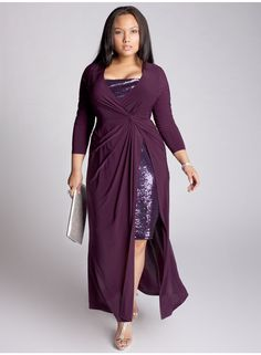 Michelle Gown in Plum from www.igigi.com - I love this dress.  It'll cover my arms, give me a waist, and shows just enough boobs and legs to be hot hot hot!  Plus, hello.. PURPLE!