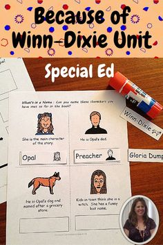 Have you ever wanted to read a novel to your special ed students but thought, there is no way they will sit and listen? Persevere, it is worth it!! This 83 page unit is designed for students who have significant disabilities and special learning needs.  An activity for EVERY chapter!! $ Download at:  https://www.teacherspayteachers.com/Product/Because-of-Winn-Dixie-Literacy-Unit-for-Special-Education-2411996