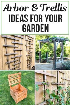 Fill your garden with flowers and vines from top to bottom with these DIY arbor and trellis ideas! Learn how to make a trellis for your fence, or an entryway arbor for your garden patio! Find the perfect trellis or arbor for your garden in this list! Arbors Trellis, Diy Trellis, Garden Trellis, Trellis Ideas, Cool Diy Projects, Garden Projects, Garden Ideas, Outdoor Projects, Pallet Projects