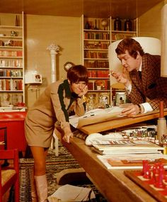 The Mod Mistress at work...Mary Quant