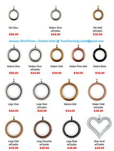 Origami Owl Living Lockets and Prices.....  Want more than just one locket, consider joining our team for an extra income.