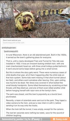 I don't know if this is real but it will haunt my dreams forever. Short Creepy Stories, Spooky Stories, Weird Stories, Ghost Stories, Horror Stories, Terrifying Stories, Creepy Facts, Wtf Fun Facts, Creepy History