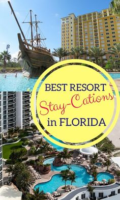 "Looking for a fun, family-friendly resort in Florida? Here is a big list of ""stay-cation"" resorts to visit this summer in Florida!"